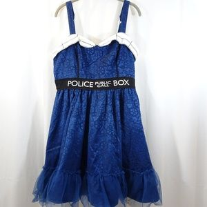 Police Public Call Box Dress Hot Topic Dr Who XL